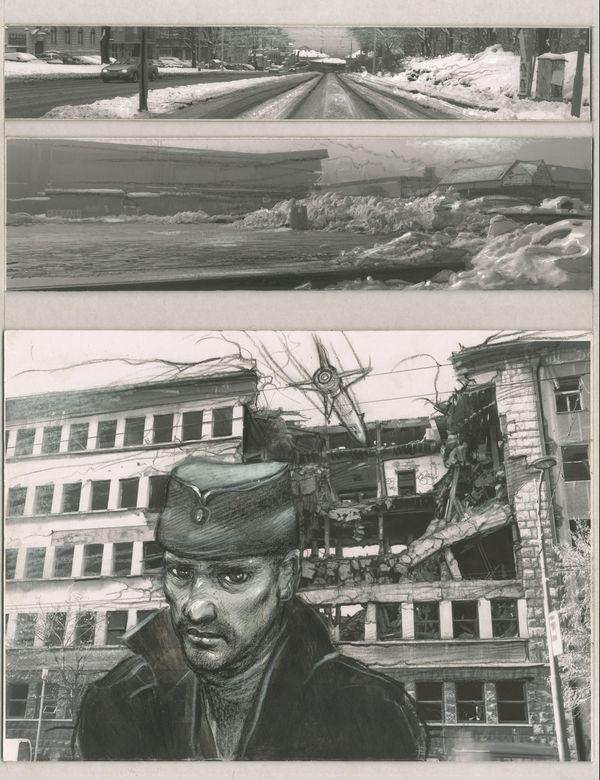 Planche sur la Yougoslavie