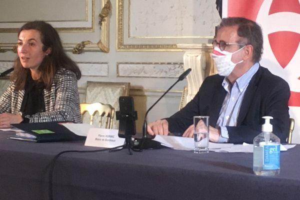 Pierre Hurmic lors de la conférence de presse du 8 fevrier 2021
