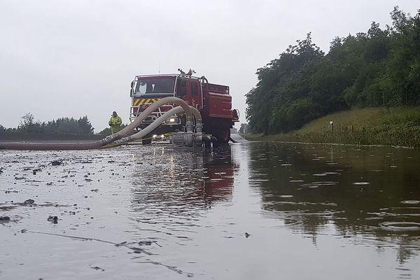 Opération de pompage sur l'A13 ce mardi 12 juin 2018