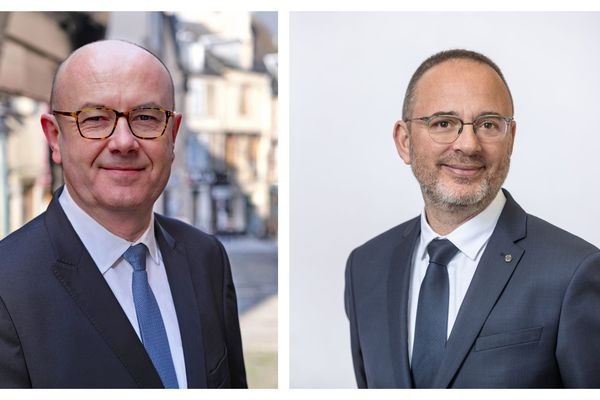 Philippe Mousny (LR) et Yann Galut (PS) : candidats au second tour des élections municipales à Bourges