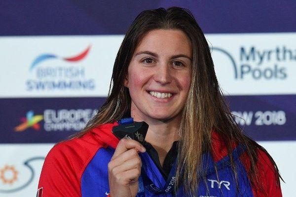La Française Charlotte Bonnet a remporté le premier titre européen de la natation tricolore sur 200 m nage libre.