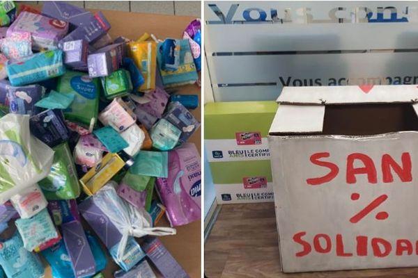 Des jeunes en service civique ont organisé une collecte de protections hygiéniques dans plusieurs lieux d'Amiens.