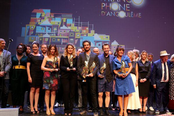 Les lauréats du FFA 2018 sur scène à Angoulême.
