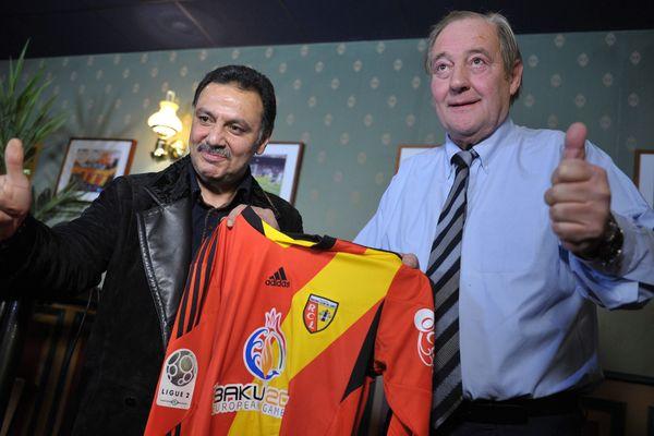 Hafiz Mammadov et Gervais Martel, les deux propréitaires du RC Lens.