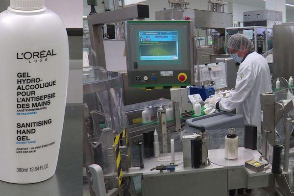 L'usine L'Oréal de Cauchy, dans le Nord, fabrique des gels hydroalcoolique qu'elle distribue gratuitement aux hôpitaux ou aux soignants.