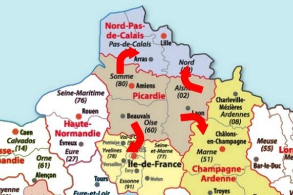 La région Picardie pourrait être démantelée à l'occasion de la prochaine réforme territoriale.