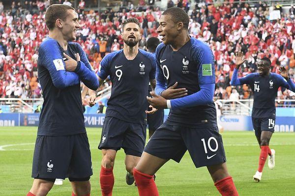 Griezman, Giroud et Mbappé