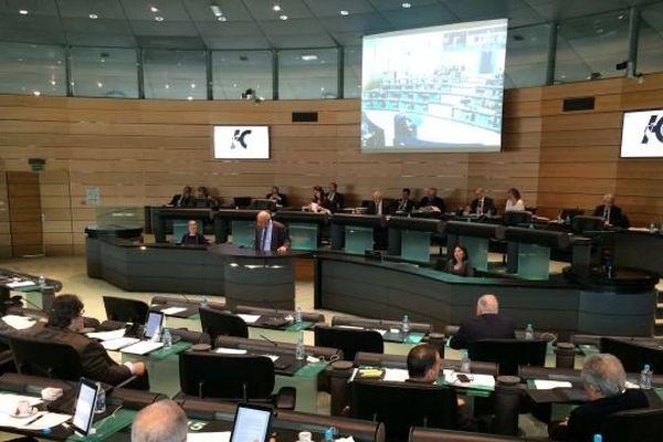 Dernière session au conseil général de la Haute-Corse.