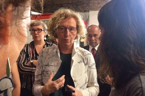 Muriel Pénicaud, la ministre du travail, en visite à la Glanerie de Toulouse.
