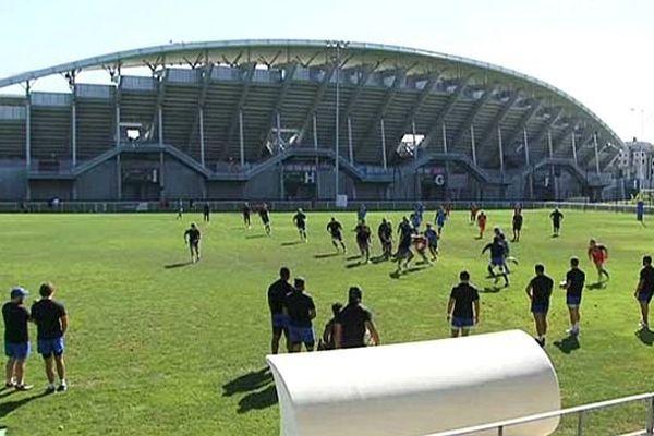 Montpellier - le MHR à l'entraînement - août 2015.