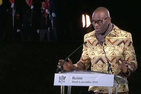 Prise de parole d'Alain Mabanckou, écrivain Franco-Congolais.