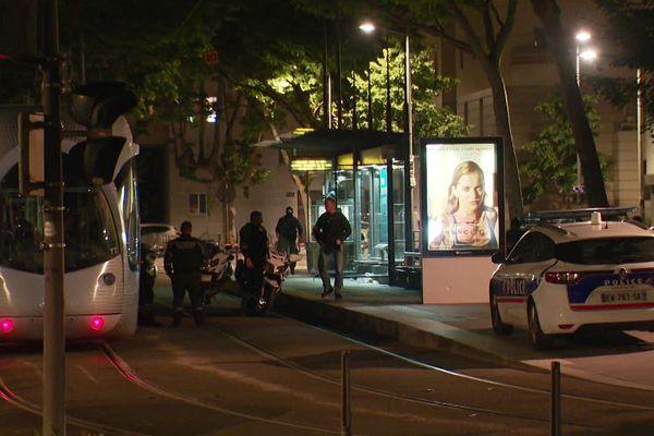 La fusillade a eu lieu à proximité immédiate de l'arrêt du tram T4.