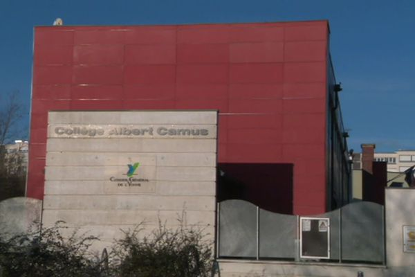 Le collège Albert-Camus d'Auxerre.