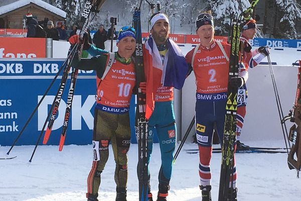 Martin Fourcade remporte la mass start du Grand-Bornand en Haute-Savoie