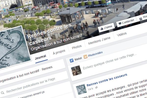 La page Facebook Rennes contre les casseurs compte plus de 4000 fans