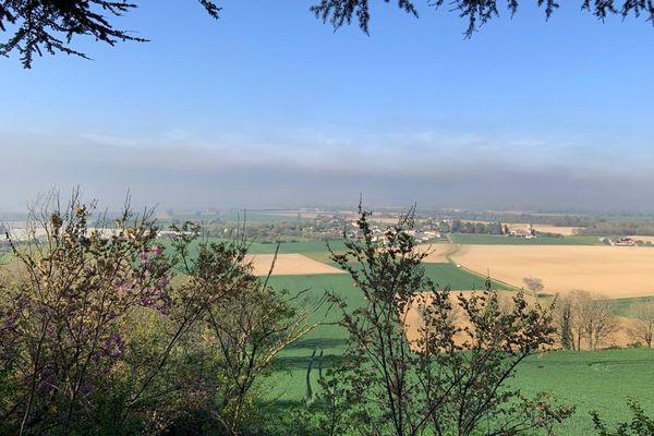 La plaine de Lavaur (Tarn) mardi matin.