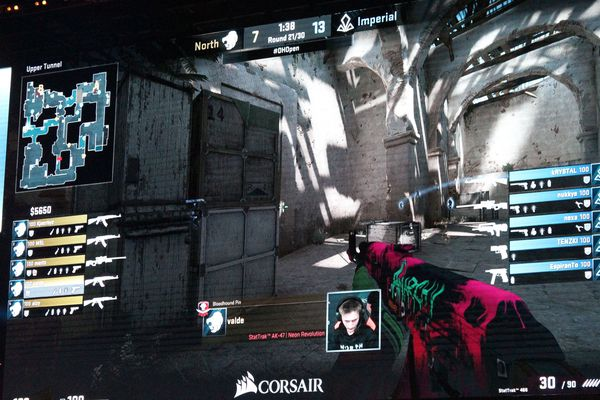 Un match de CounterStrike GO pendant la Dreamhack 2018.