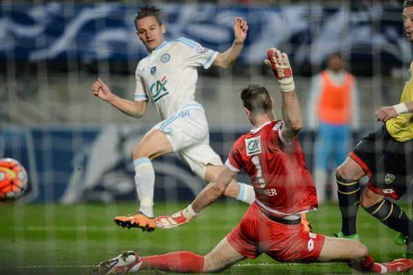 Auteur du but de la qualification de l'OM en finale de la Coupe de France, Florian Thauvin a envoyé son équipe affronter le Paris SG, le 21 mai.