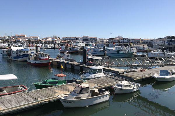 Port de L'Herbaudière sur l'île de Noirmoutier (avril 2020)