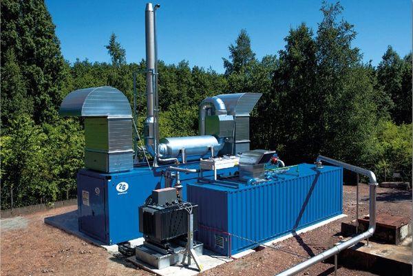 Station de pompage de gaz de mine Gazonor dans les Hauts-de-France