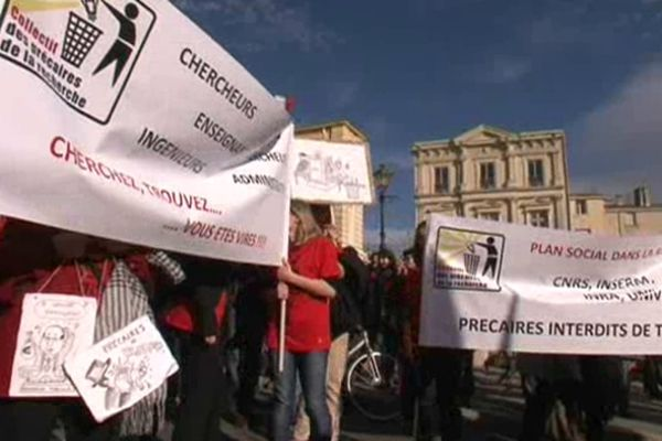 Montpellier : rassemblement de la fonction publique au Peyrou, avant la manifestation régionale - 31 janvier 2013.