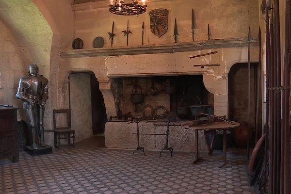 La salle d'armes du château de Jaulny.