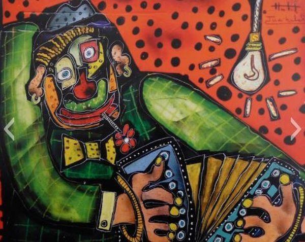 Oeuvre de Judikahel inspirée par le cirque et le jazz