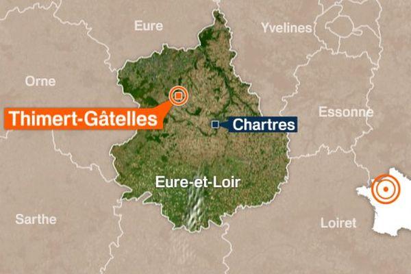 Accident de voiture à Thimert-Gâtelles, dans l'Eure-et-Loir