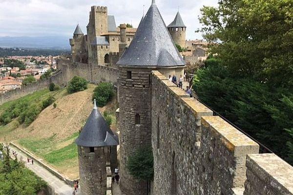 Remparts de la Cité de Carcassonne. Archives.