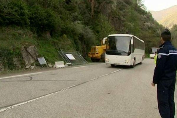 La route a été réouverte vers 18h30