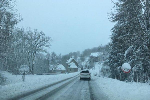 50 centimètres de neige à Laguiole sur l'Aubrac