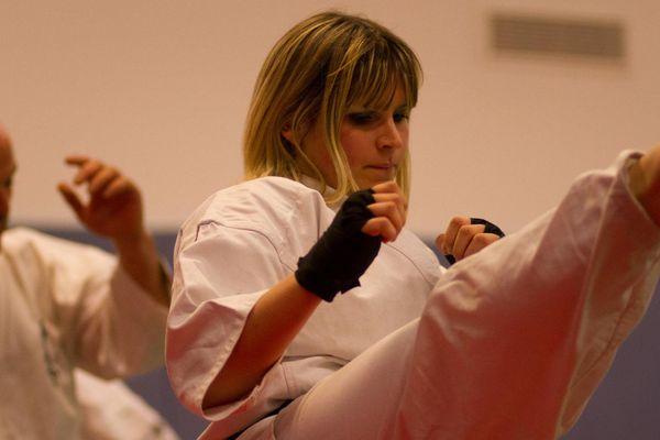 La Niçoise pratique le karaté kyokushinkai depuis 18 ans.