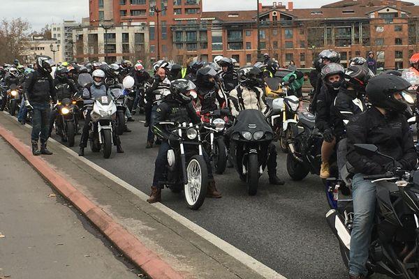 La manifestation des motards en colère à Toulouse
