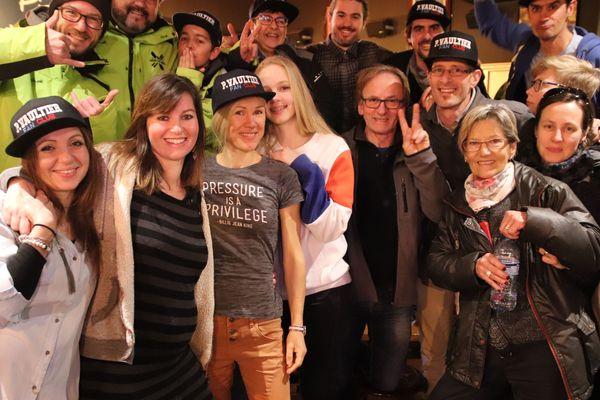 L'épouse et les proches de Pierre Vaultier ont assisté en direct à la finale de snowboardcross