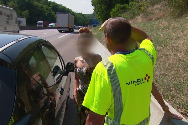 Pas le temps de trainer, à 2km de sa position, au col du grand boeuf dans la Drôme, deux véhicules en pannes ont été signalés.