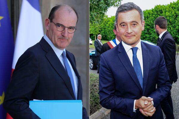 Jean Castex / Gérald Darmanin, ce mardi 7 juillet 2020
