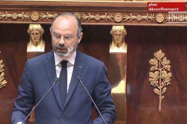 Edouard Philippe à la tribune de l'Assemblée Nationale cet après-midi