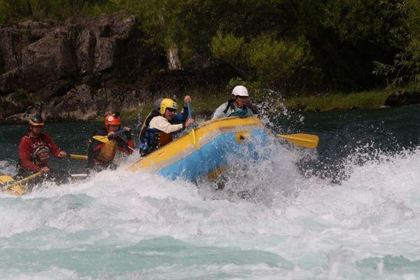 En rafting au Chili