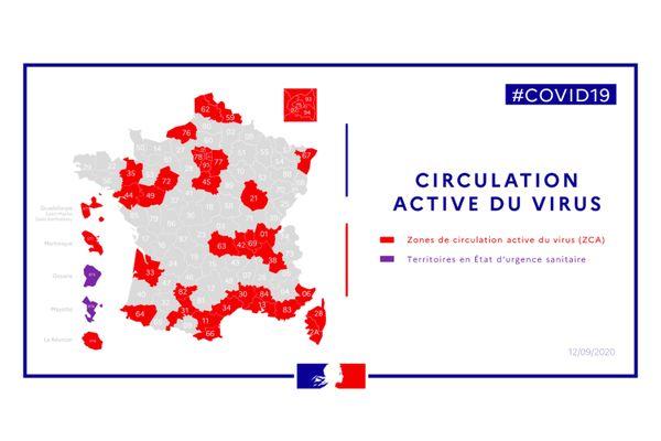 La Côte-d'Or est le seul département de Bourgogne-Franche-Comté à être classé en zone de circulation active du virus.