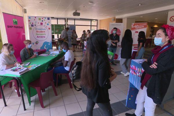 L'accueil des premiers étudiants étrangers de l'Université de Picardie lors de la rentrée le 18 septembre.