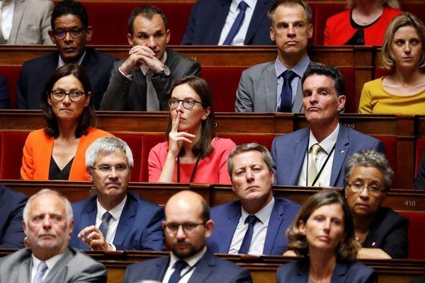 """Les députés de la République en Marche de Haute-Garonne ont voté pour le projet de loi sur la """"sécurité globale"""", à l'exception d'Elisabeth Toutut-Picard qui s'est abstenue et Sandrine Mörch ( en veste orange sur cette photo datée de juin 2017) qui a voté contre."""