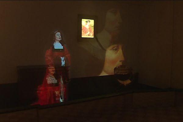 L'hologramme de Marguerite d'Autriche au Monastère royal de Brou