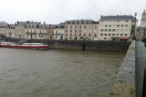 Le quartier de la Doutre à Angers,  il y a 20 ans était envahi par l'eau de la Maine en crue à 7.04m.
