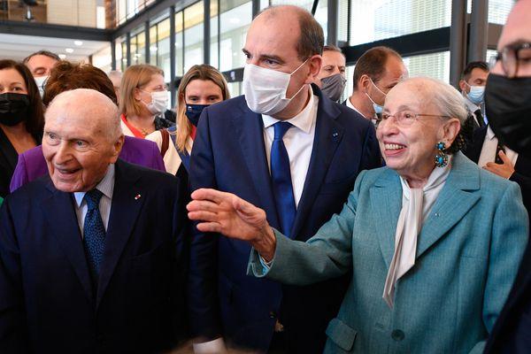Martine et Léon Cligman, en compagnie du premier Ministre Jean Castex, ont fait don de leur collection d'œuvres d'art moderne à l'abbaye de Fontevraud