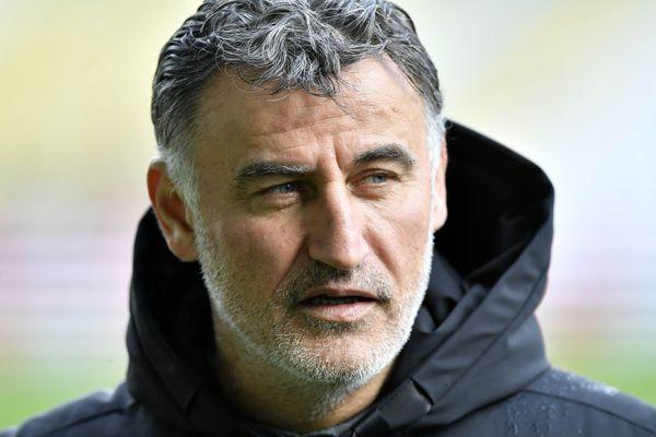 Christophe Galtier lors du match Lille - Nantes, le 1er mars 2020.