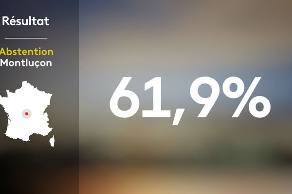 Le taux d'abstention lors des élections municipales 2020 à Montluçon.