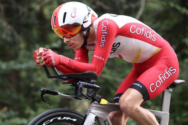 """Déçu de ne pas intégrer le Top10, Guillaume Martin juge """"correct"""" son Tour de France 2020 (ici le 19 septembre lors du chrono de la Planche des Belles Filles en Haute-Saône)."""