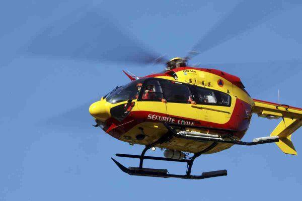 Les blessés ont été évacués à l'aide de deux hélicoptères de la sécurité civile