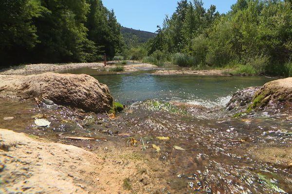 L'eau du Verdouble, la rivière qui traverse Tautavelle, présentait en juin des traces de pesticides, de fongicide et d'insecticide.