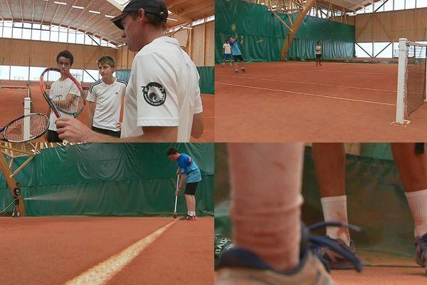 Au club de tennis de Grenoble, les terrains en terre battue permettent aux jeunes de développer leur jeu.